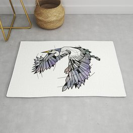 Heron Geometric Bird Rug