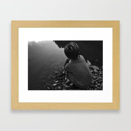 DARK WATER Framed Art Print