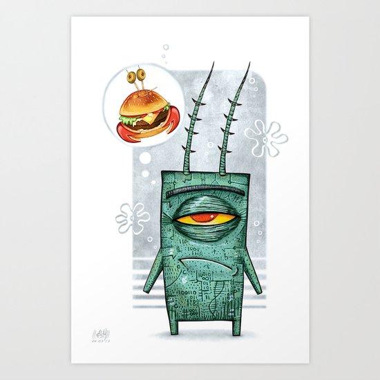 Sheldon James Plankton Jr Art Print