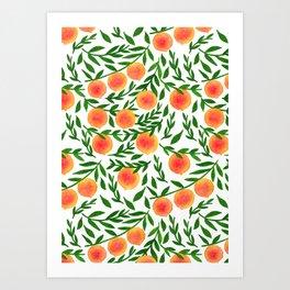 The Peach Tree Art Print