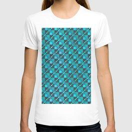 Micro Diagonal Blue Checkerboard T-shirt