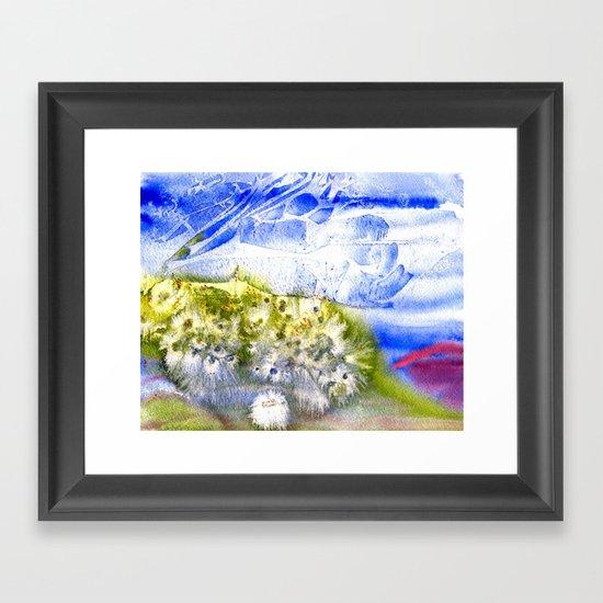 Banana River Shoreline in Bloom Framed Art Print