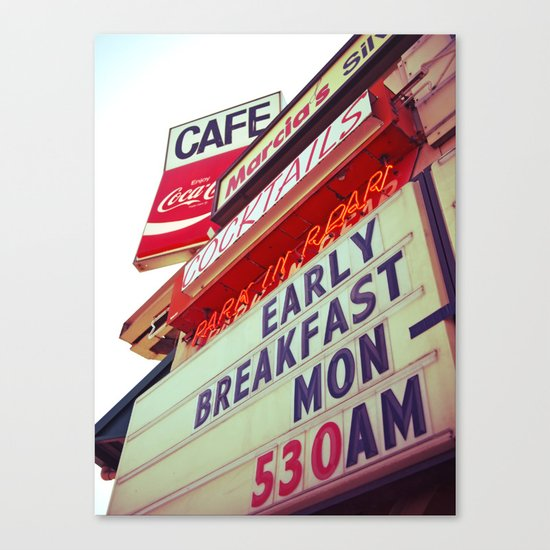 Diner angle Canvas Print