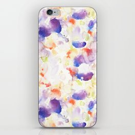 Abstract Washy Watercolour Splodges iPhone Skin