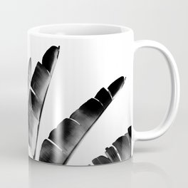 Traveler palm - bw Coffee Mug