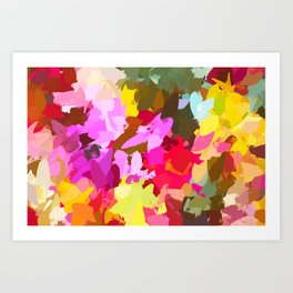 Winterberry #painting #colorful Art Print