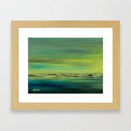 Greeen Shore II Framed Art Print