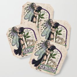 Black Rose Absinthe by Bobbie Berendson W Coaster