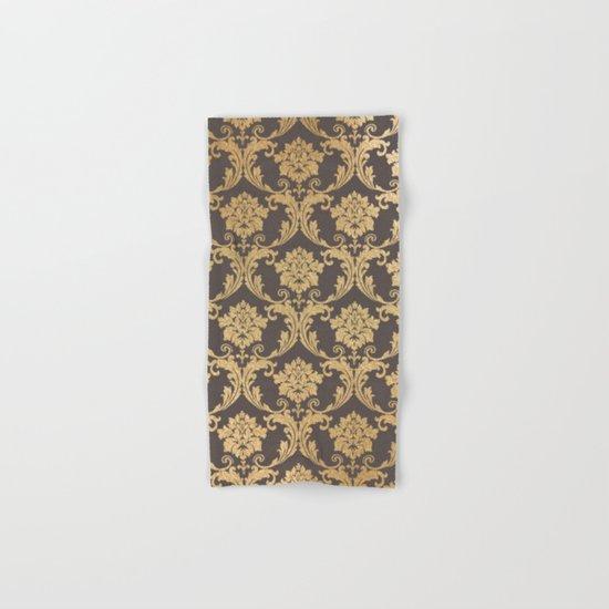 Gold swirls #3 Hand & Bath Towel