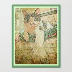 Bijou in basket Canvas Print