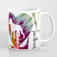 pitbull Mugs featuring PITBULL by AR PHOTOGRAPHY & GRAPHIC DESIGN