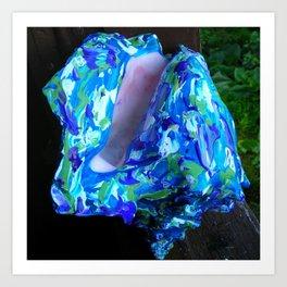 Conque turquoise Art Print