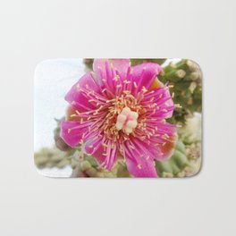 Watercolor Flower, Walking Stick Cactus 01, Ventana Canyon, Arizona, The Chola Bath Mat