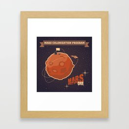 Mars colonization project Framed Art Print