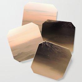 The West is Burning - Mt Shasta - nature photography Coaster