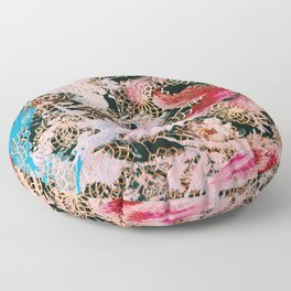 Sparrow Abstract Painting Floor Pillow