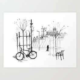 Le vélo Art Print