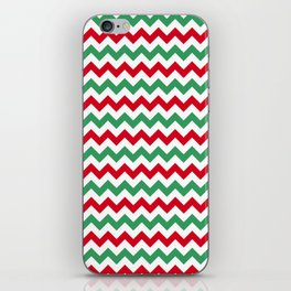 Christmas Chevron Print iPhone Skin