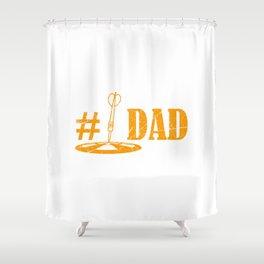 Dart Dad Shirt Darts Player Gift Dartboard Shower Curtain