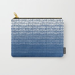 Ombre Blue and White Carry-All Pouch