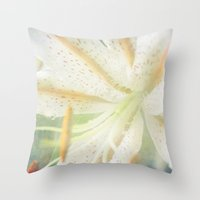 lily Throw Pillows featuring Lily by Deepti Munshaw