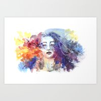 ultraviolence Art Prints featuring Ultraviolence by Jordana Clarke