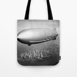 Airship over New York Tote Bag