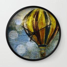 The Golden Balloon Wall Clock