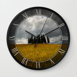 Golden fields of Tuscany Wall Clock