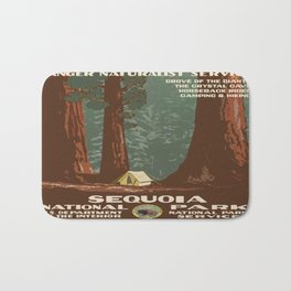 Vintage poster - Sequoia National ParkX Bath Mat