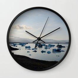 Sunset at Jokulsarlon Wall Clock