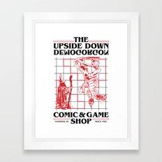 The Upside Down Demogorgon - Stranger Things Have Happened Framed Art Print