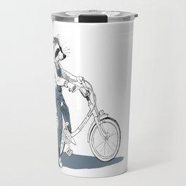 Raccoon bike Travel Mug