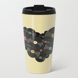 Heart of a Vinyl Lover Metal Travel Mug