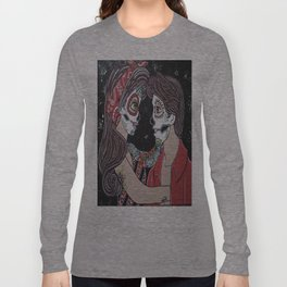 Rockabilly Sugar Skull Long Sleeve T-shirt