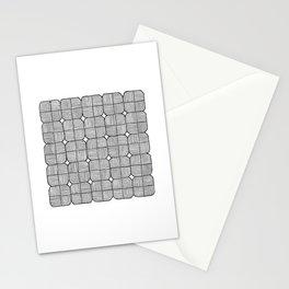 Black Squares Mosaic Stationery Cards