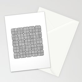 Black Squares Mosaic Stationery Cards