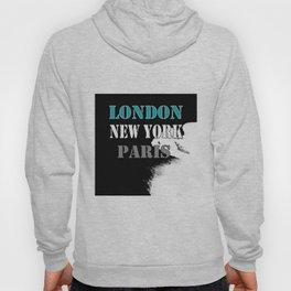 London , New York , Paris. Grunge . Hoody