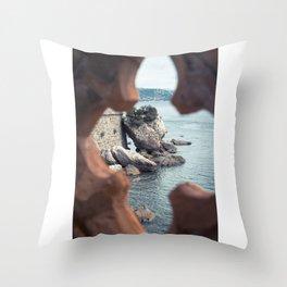 Sea rocks Throw Pillow