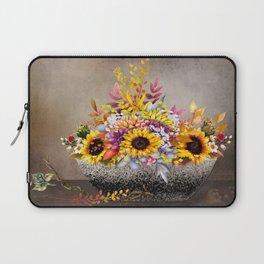 Bowl of Farm Fresh Sunflowers Laptop Sleeve