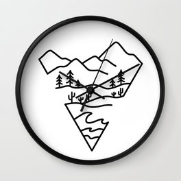 Enjoy the Journey Wall Clock