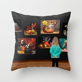 Art Observation by Great Granddaughter Throw Pillow