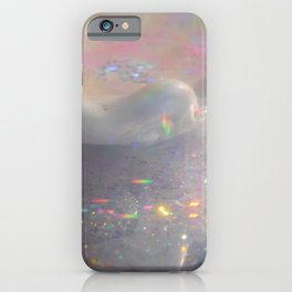 Seashell with water and sparkles iPhone Case
