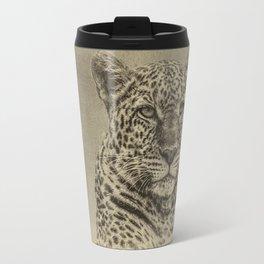 Leopard in Sepia Travel Mug