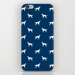 Irish Setter dog silhouette minimal dog breed pattern gifts for dog lover iPhone Skin