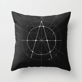 XXIst Century Anarchy Monochrome Throw Pillow