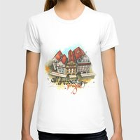 prague T-shirts featuring Prague by Hande Unver