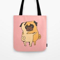 Pug Hugs Tote Bag