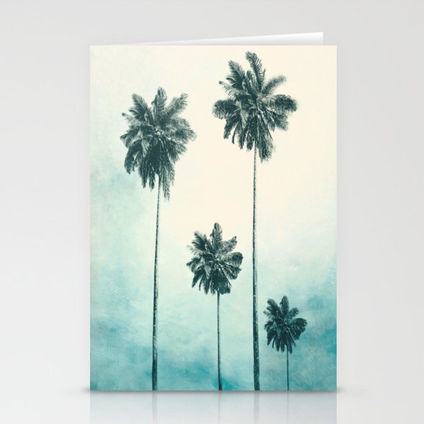 palm trees stationery cards by nadja1 society6