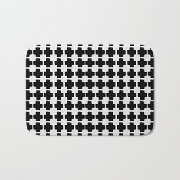 Black and White Abstract III Bath Mat